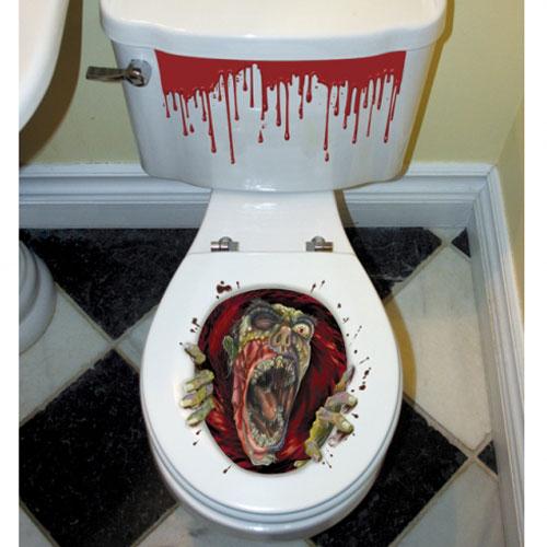 Zombie toalett dekoration for Dekoration halloween