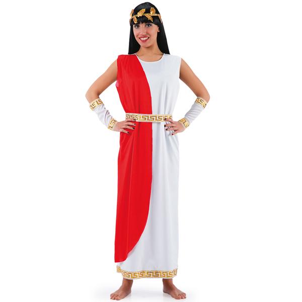 Elegant Grekisk Gudinna Maskeraddräkt
