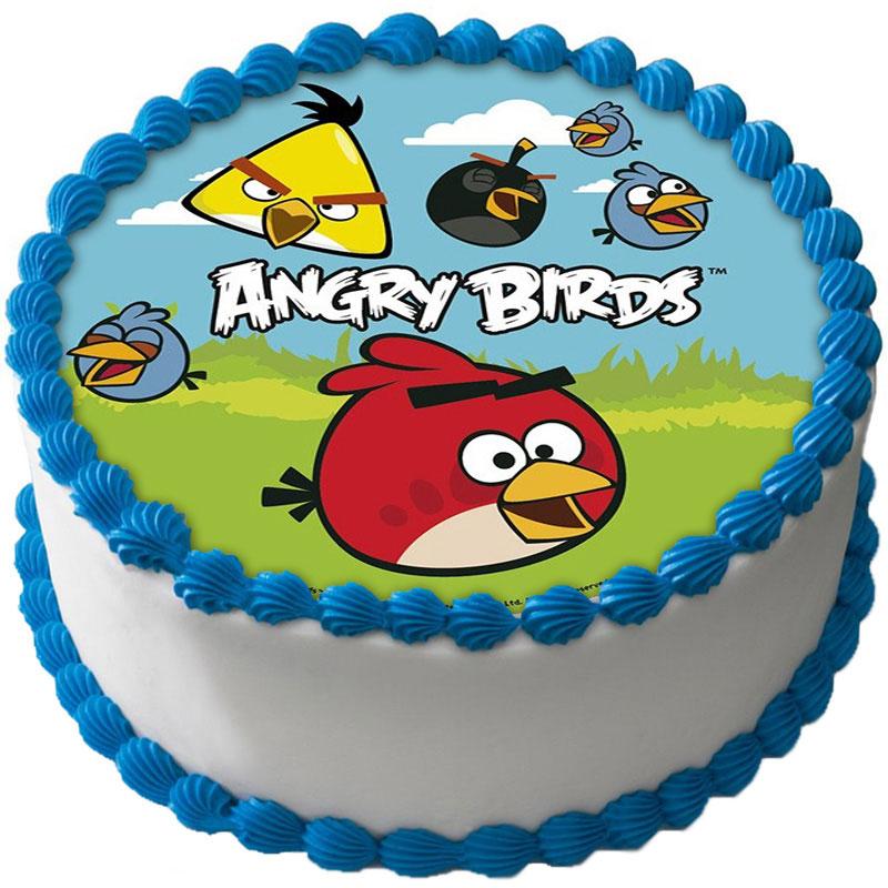 Angry Birds Tårtoblat Sockerpasta