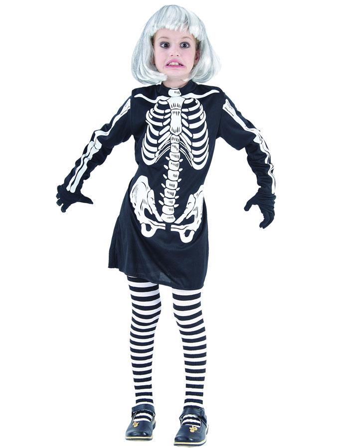 Maliciös Skelettklänning Barn (Small)