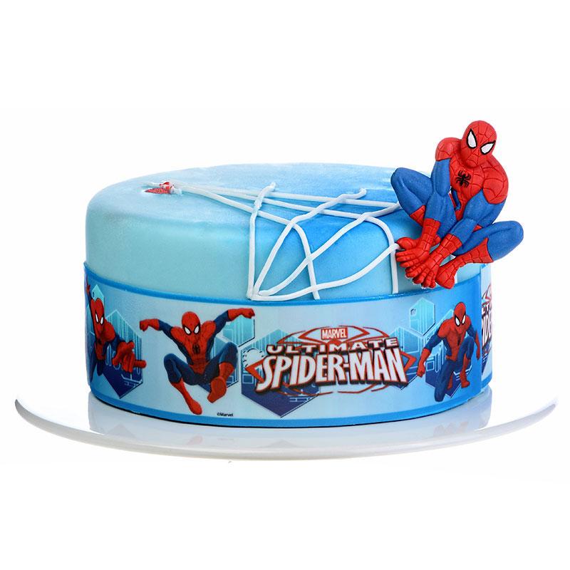 Spiderman Tårtband Sockerpasta