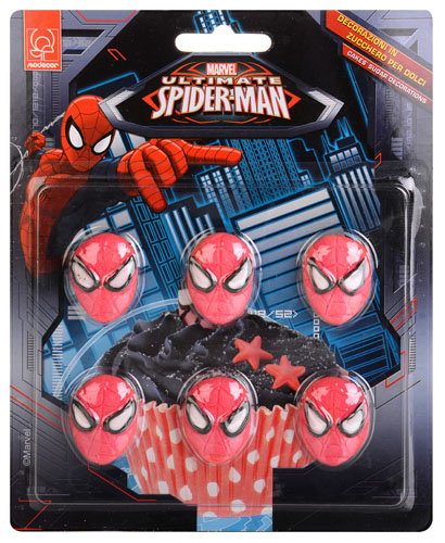 Spiderman Tårtdekoration Ätbara