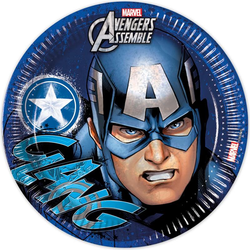 Avengers Captain America Papptallrikar