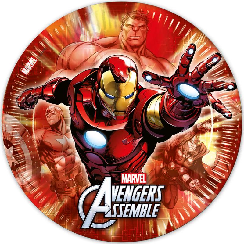 Avengers Heroes Papptallrikar