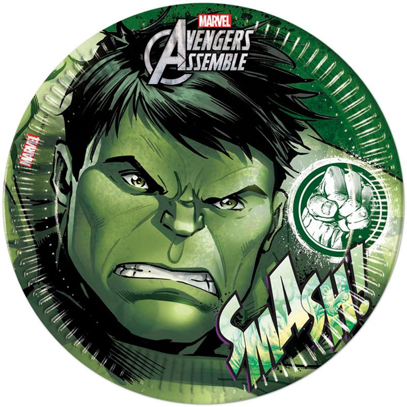 Avengers Hulken Papptallrikar