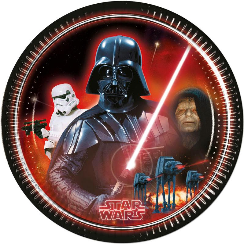 Star Wars Heroes Villians Papptallrikar