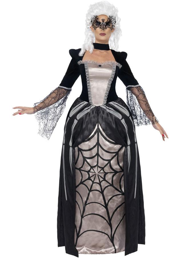 Svarta Änkan Spindelklänning Maskeraddräkt (Small)