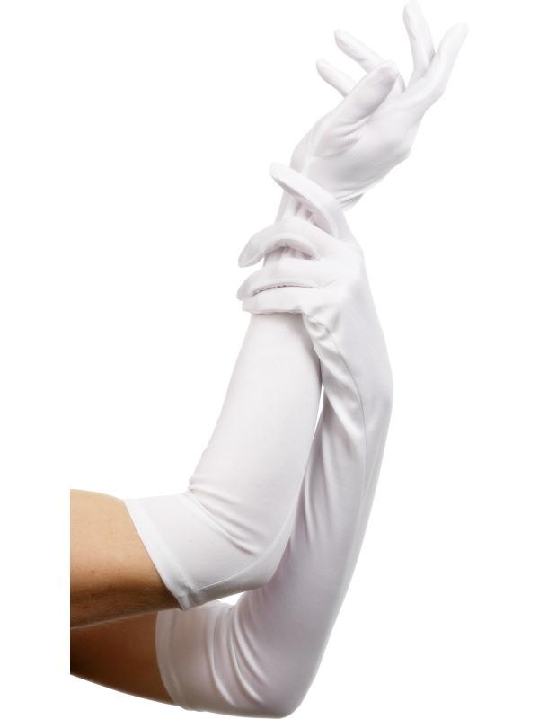 Vita Långa Handskar