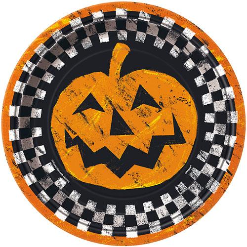 Halloween Boo Papptallrikar