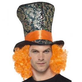 Mad Hatter Hatt med Peruk