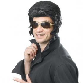Elvis peruk med Polisonger