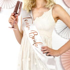 Team Bride Sash Roséguld