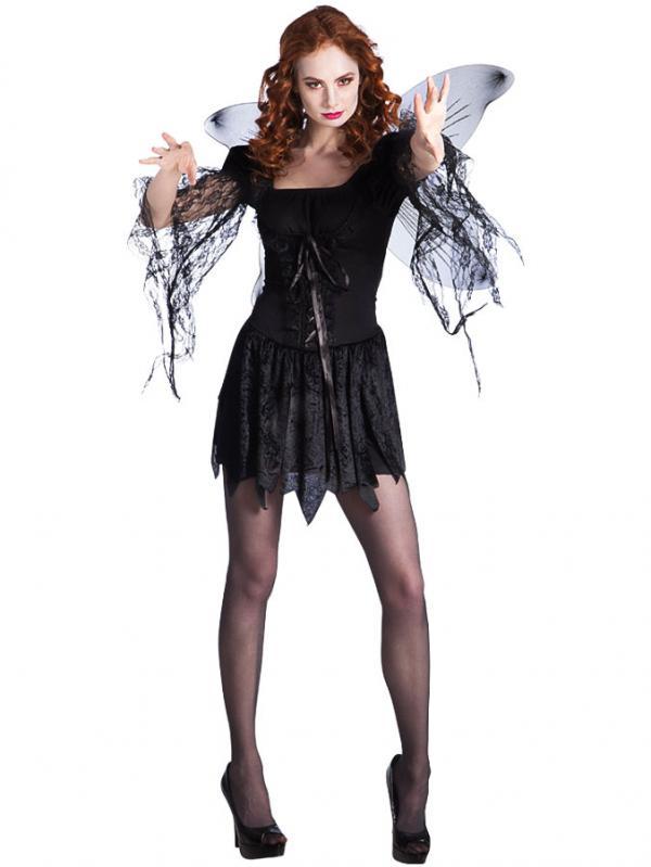 svart ängel utklädnad