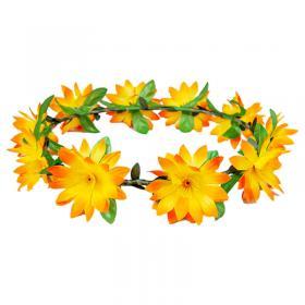 Blomkrans med Orange Blommor