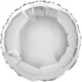Folieballong Rund Silver