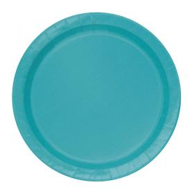 Pappersassietter Pastell Teal
