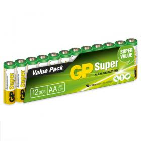 AA-Batterier 12-pack GP Super Alkaline