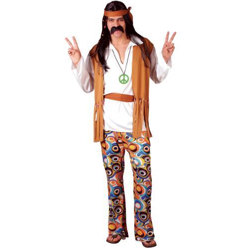 8c753baa6ed2 Woodstock Hippie Maskeraddräkt - Partyhallen.se