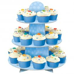 Blå Muffinsställ