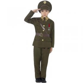 Armé Officer Maskeraddräkt Barn