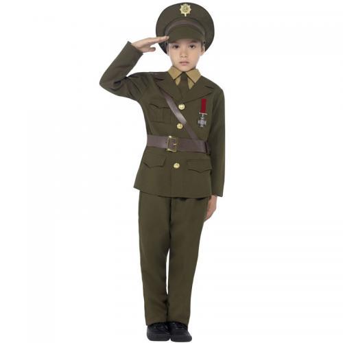 Armé Officer Maskeraddräkt Barn - Partyhallen.se 2e41a9864240e
