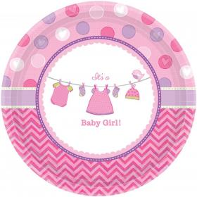Baby Shower It's a Baby Girl Assietter