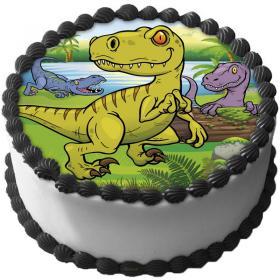 Dinosaurie Tårtbild