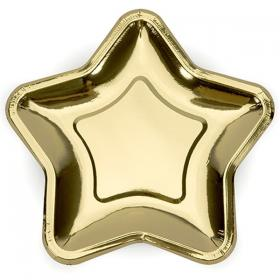 Pappersassietter Guld Stjärna