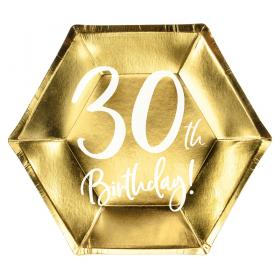 30th Birthday Assietter Guld