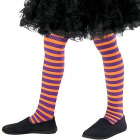 Wicked Witch Lila & Orange Tights Barn