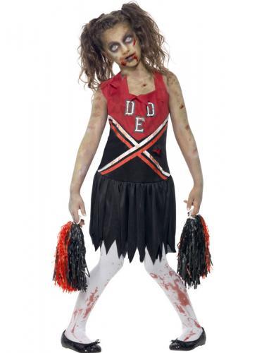 43d06f8288ee Zombie Cheerleader Dräkt Barn - Partyhallen.se