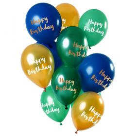 Happy Birthday Ballonger Golden Emerald