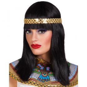 Cleopatra Peruk med Hårband