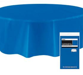 Rund Bordsduk i Plast Blå