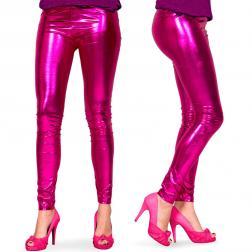 Leggings Metallic Magenta
