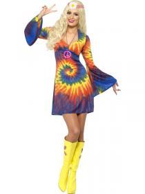 Psykedelisk Hippie Klänning Maskeraddräkt