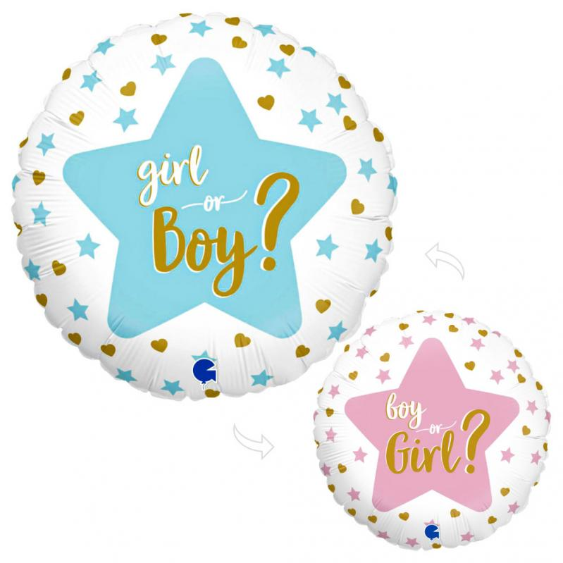 Rund Girl or Boy Folieballong