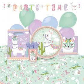 Llama Birthday Party Kalaspaket Deluxe 8 Pers