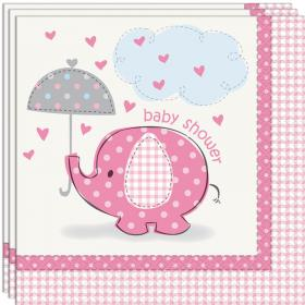 Baby Shower Girl Servetter Umbrellaphant
