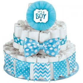 Baby Shower Blöjtårta Kit It's a Boy