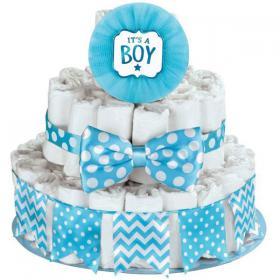 Baby Shower Blöjtårta Kit It's a Boy