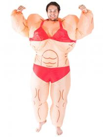 Uppblåsbar Kvinnlig Bodybuilder Dräkt