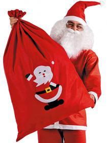 Röd Tomtesäck med Tomtemotiv