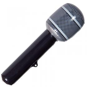 Uppblåsbar Mikrofon Svart