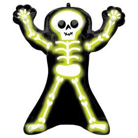 Neon Skelett Folieballong