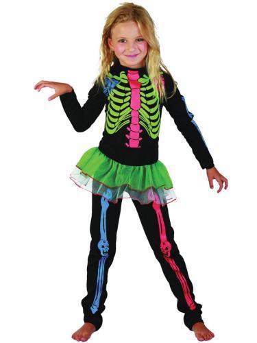 Skelett Neon Maskeraddräkt Barn - Partyhallen.se 1c4e1fef0ce84