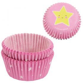 Muffinsformar Stjärnor Ljusrosa