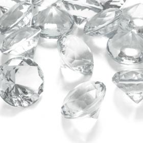 Diamantkonfetti Stora Transparent