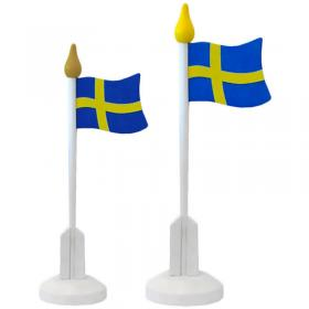 Bordsflagga Sverige i Trä Stor