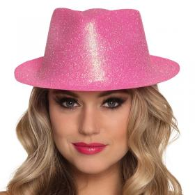 Glittrig Partyhatt Neon Rosa
